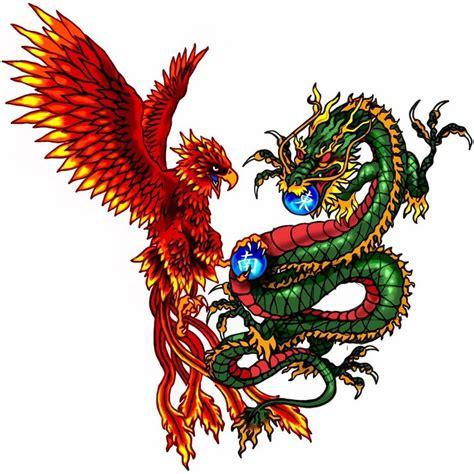 dragon and phoenix tatoo by pandeki on deviantart