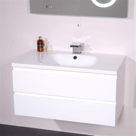 valencia 900 white vanity unit