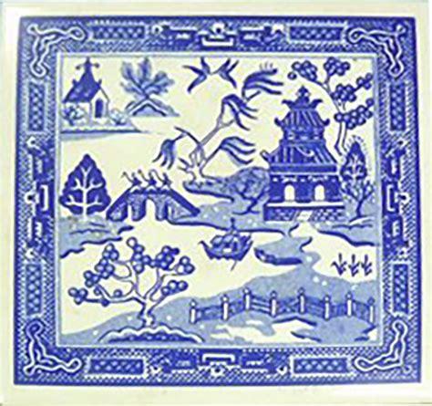 willow pattern art ideas willow pattern tile visuology