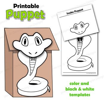 snake puppet template puppet snake craft activity printable paper bag puppet