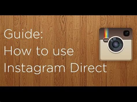 tutorial instagram direct how to use instagram direct youtube