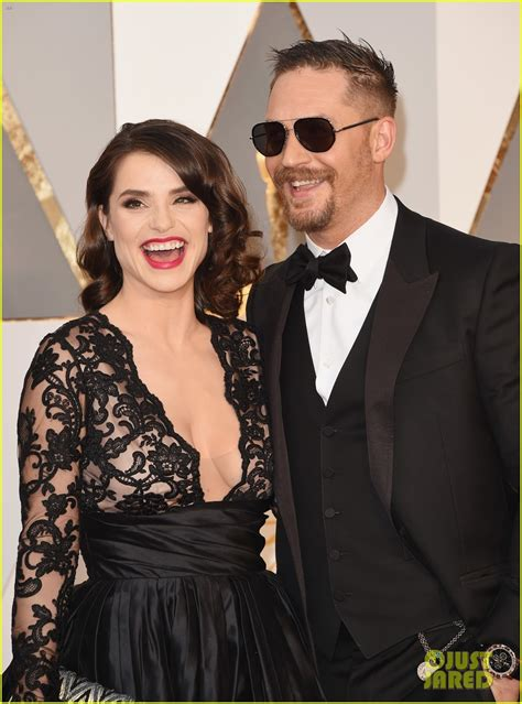 katherine johnson oscars 2016 tom hardy gets support from wife charlotte riley at oscars