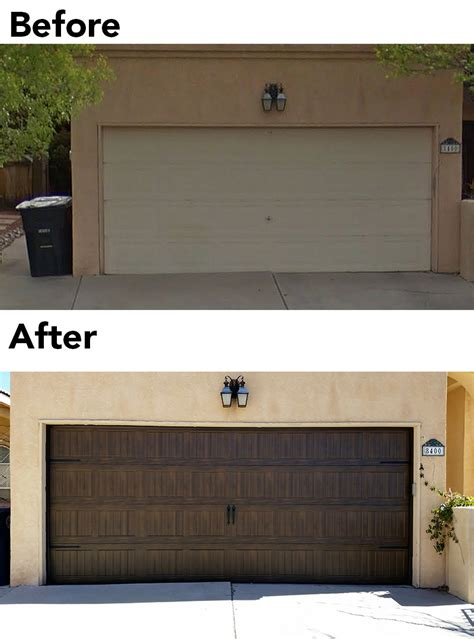 Overhead Door Albuquerque Before And After Garage Door Overhead Door Of Albuquerque
