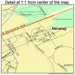 Hershey Pennsylvania Map hershey pennsylvania street map 4234144