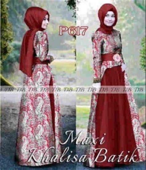 Baju Batik Djabi baju gamis pesta khalisa batik p617 baju muslim syari