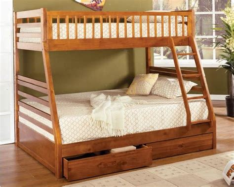 solid wood bunk beds twin over full twin over full bunk bed solid wood oak finish 2 drawers