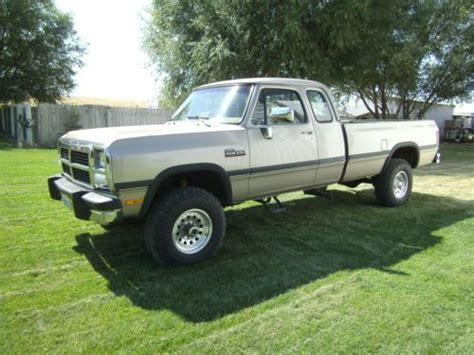 1992 dodge ram 250 vin 3b7km23c0nm506897 autodetective com sell used 1992 dodge w250 pickup truck cummins 5 9 12 valve diesel club cab 4x4 in soap lake