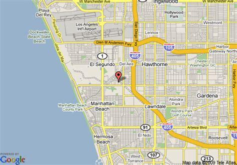 california map el segundo map of hyatt summerfield el segundo el segundo