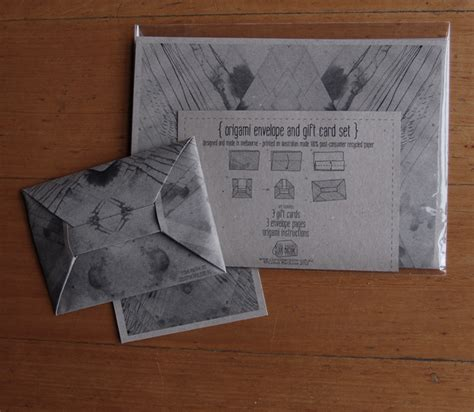 Origami Envelope For Gift Card - origami envelope and gift card set cloud machine