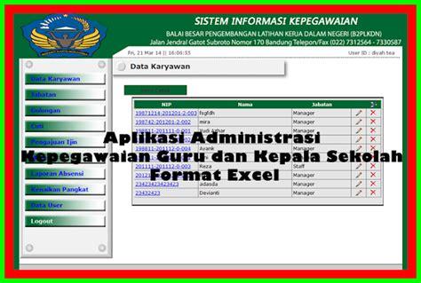 contoh format administrasi kepala sekolah terbaru info aplikasi administrasi kepegawaian guru dan kepala sekolah