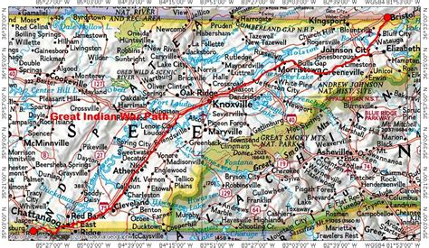 east tennessee road map historic trails and roads in tennessee