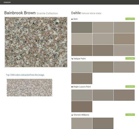 bainbrook brown granite collection slabs