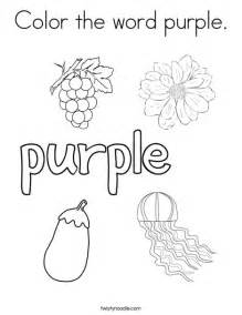color the word purple coloring page twisty noodle