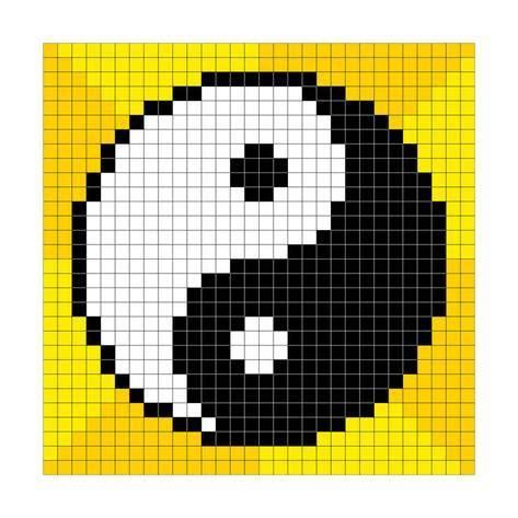 8 Bit Pixel Art Yin Yang Symbol Affiches Par Wongstock Sur