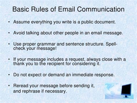 email etiquette template email etiquette presentation