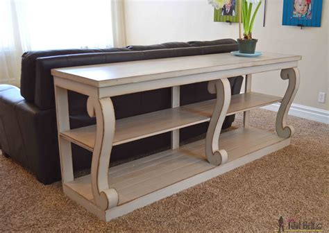 how to make desk legs console with scroll legs her tool belt