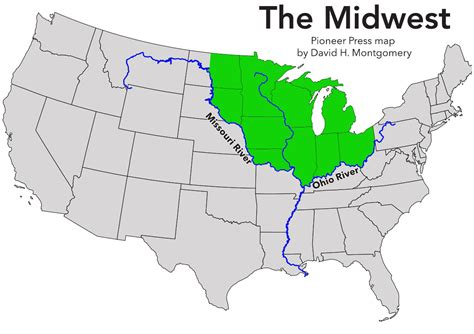 map of the midwest midwest gallery