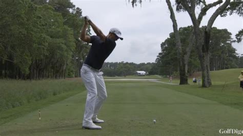 adam scott swing face on watch classic swing sequences swing analysis adam scott