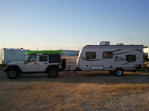 2004 jeep wrangler towing capacity motorhome magazine open roads forum which size rv to tow
