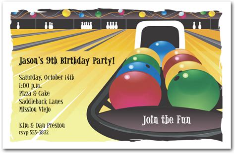 Bowling Birthday Invitation Card Template by Bowling Invitation Bowling Birthday Invitation