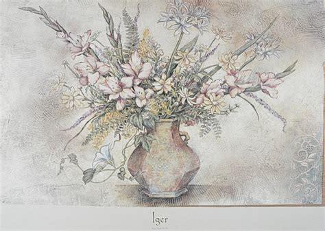 fresco floral arnold iger fresco floral no v poster kunstdruck bei