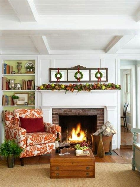 wreaths fireplace home decor