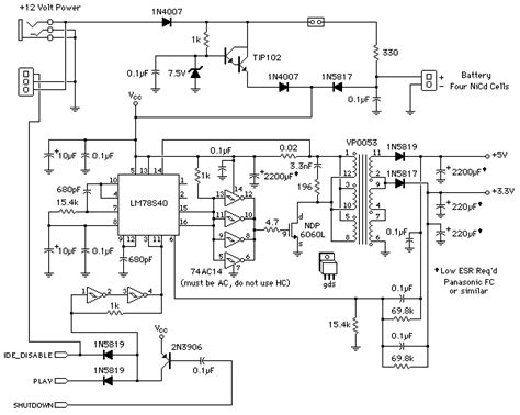 pjrc mp player schematic diagrams