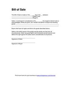 simple vehicle bill of sale template free printable tractor bill of sale form generic