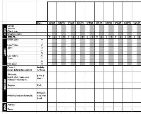 Medication Spreadsheet by Search Results For Daily Medication Record Template