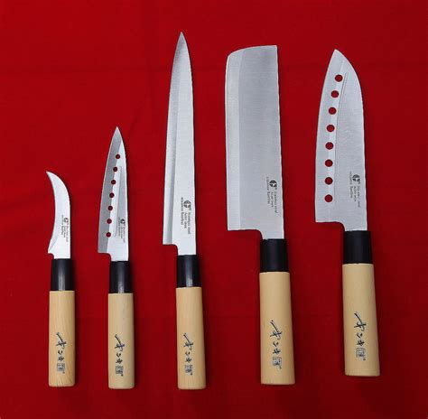 5 knives set chef knife japanese sashimi kitchen cutlery