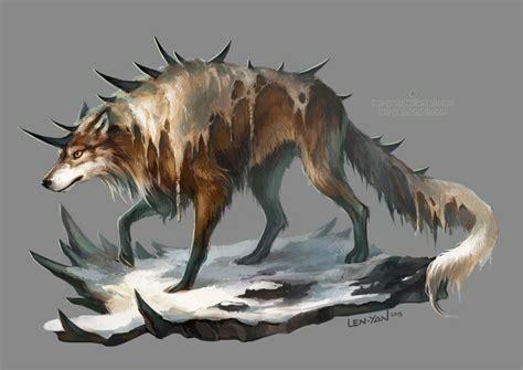 wolf len spiked wolf by len yan on deviantart