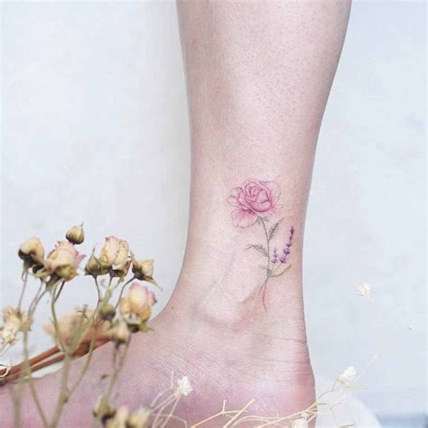 beautiful rose tattoo on ankle best tattoo ideas gallery