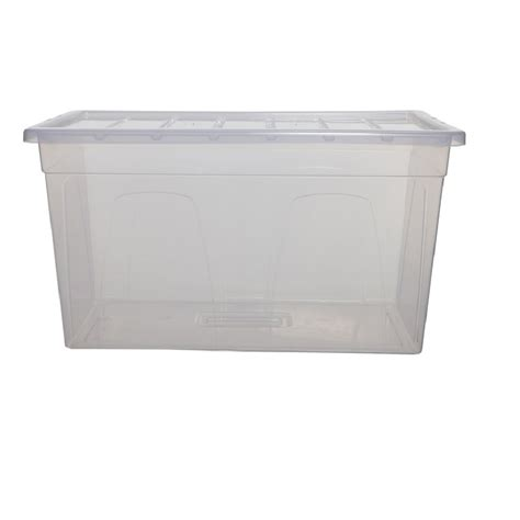 clear plastic storage container buy 96lt large clear plastic storage box and lid