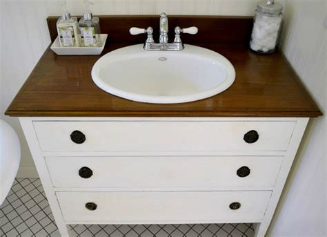 repurposed furniture for bathroom vanity turn an old dresser into a bathroom vanity repurposed