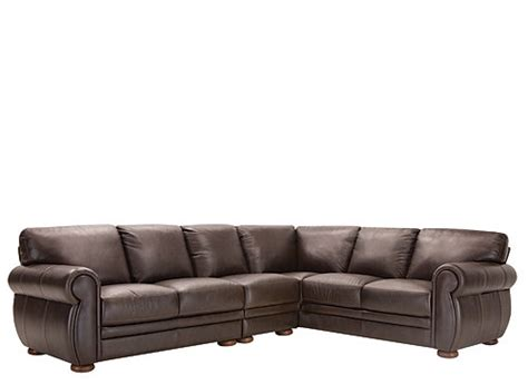 3 Pc Sectional Sofa Marsala 3 Pc Leather Sectional Sofa Chocolate Raymour Flanigan