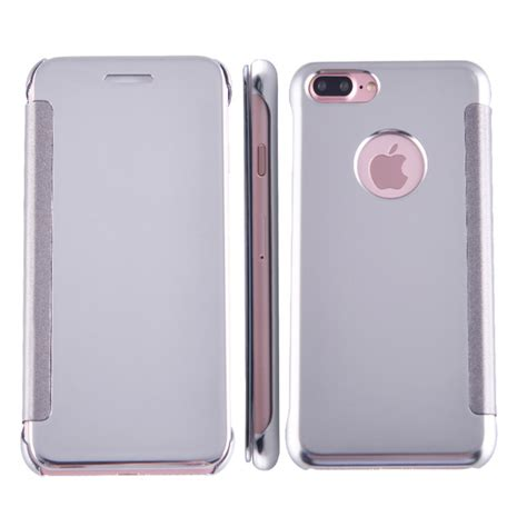 Mirror Flip Cover For Iphone apple iphone 7 plus flip cover mirror silver