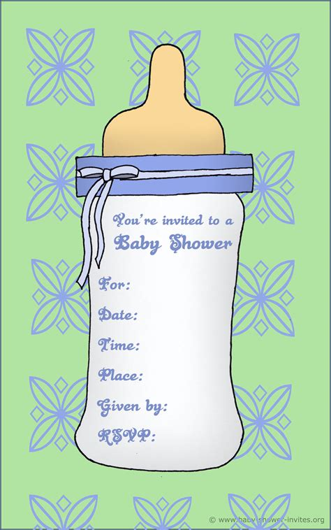 20 Printable Baby Shower Invites Baby Shower Invitation Template