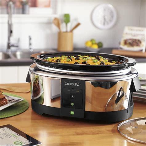 amazon com crock pot smart wifi enabled wemo 6 quart slow crock pot 6 quart wemo enabled smart slow cooker