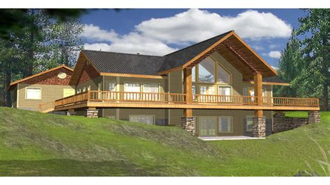 Lake house plans with rear view lake house plans with wrap around porch lake house home plans