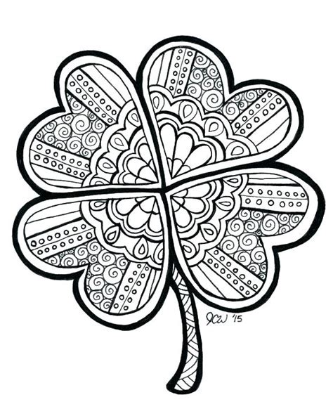 green leaf coloring pages clover coloring page four leaf clover printable coloring