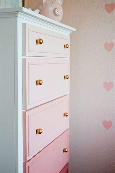 How To Repaint A Nightstand Diy Ombre Dresser Tutorial Project Nursery