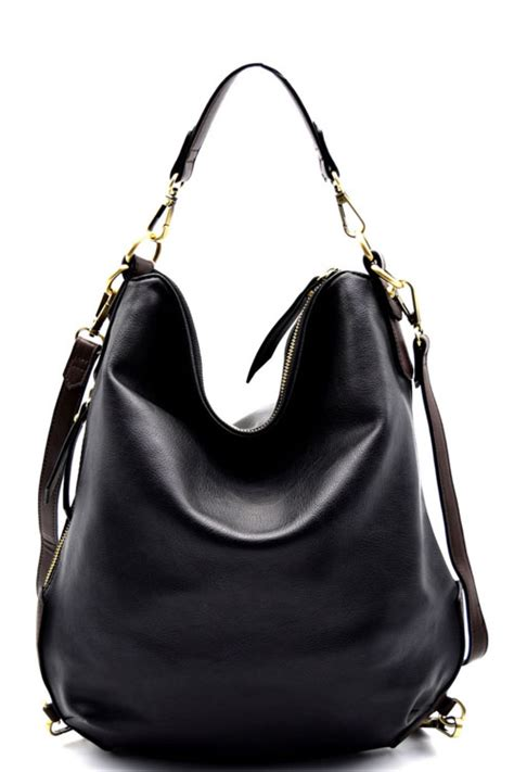 New Fashion Hobo Set 4in1 2212 y0108p black fashion hobo convertible backpack purse