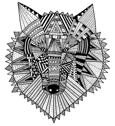 intricate wolf coloring pages intricate coloring pages for adults bri anda dibujando