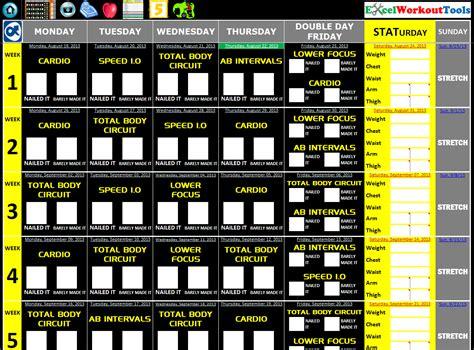 T25 Alpha Calendar Focus T25 171 Excel Workout Tools