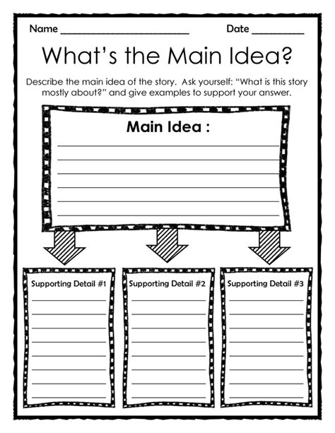 idea organizer graphic organizer what s the main idea add this 3 page