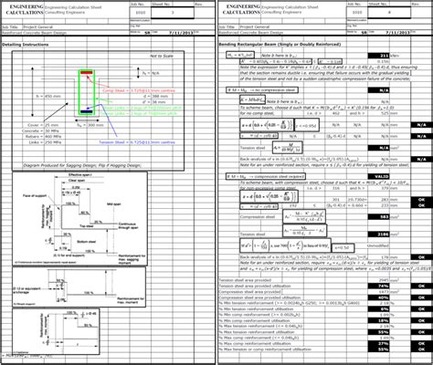 Concrete Column Design Spreadsheet by Reinforced Concrete Beam Design To Bs8110