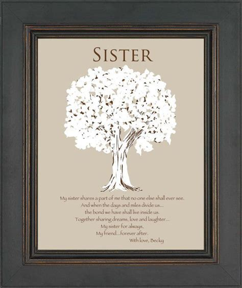 SISTER Gift Personalized Gift for Sister by