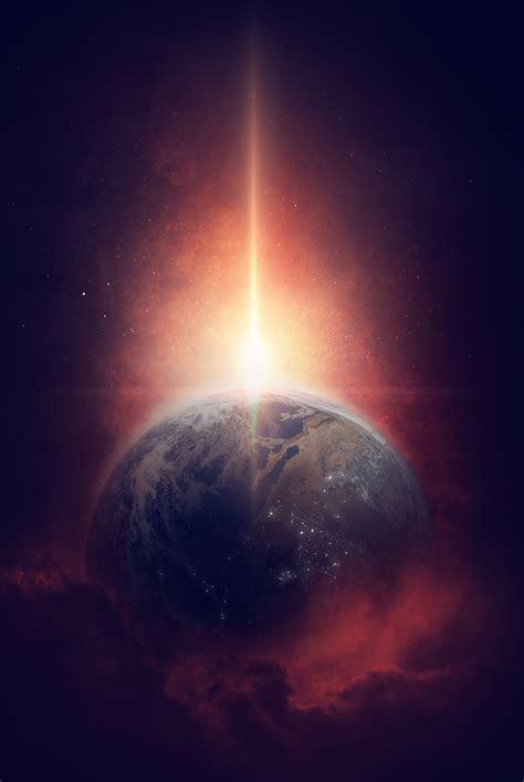 cosmos sci fi earth atmosphere moon plantets star sunlight wallpaper earth cosmos milky way sun 4k space 11348