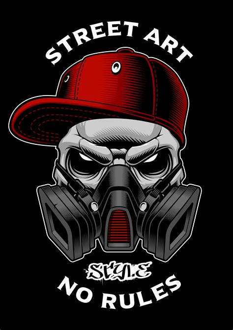 graffiti skull  gas mask   vectors