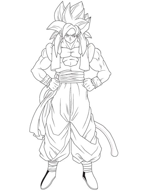 Gogeta Coloring Pages gogeta coloring pages